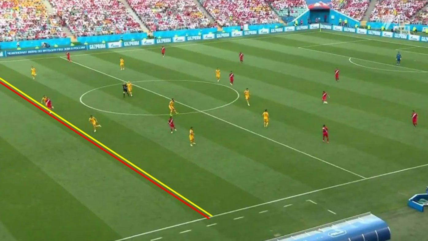 Photographic proof emerges that Peru captain Paolo Guerrero was offside in goal that led to Australia's World Cup exit