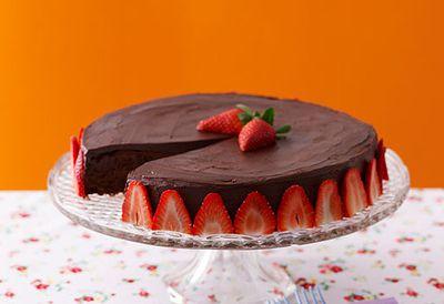 Moist flourless choc-nut cake