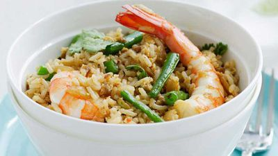 "Recipe:&nbsp;<a href=""http://kitchen.nine.com.au/2016/05/16/12/41/thaistyle-fried-rice"" target=""_top"">Thai-style fried rice</a>"