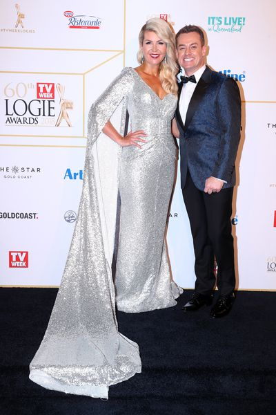 Grant Denyer and wife Cheryl at the 2018 Logie Awards