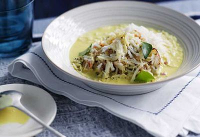 Crab and coconut broth