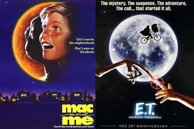 A boy helps a friendly alien with an acronymic name escape NASA and return home in <i>Mac and Me</i> (1998), not dissimilar to Spielberg's <i>E.T.</i> (1982).
