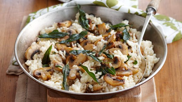 Mushroom and sage risotto with fennel salad for $10