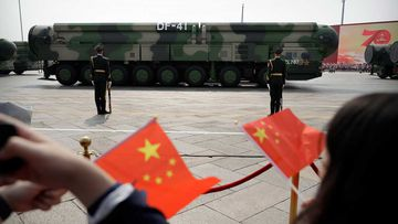 China has more than 300 nuclear warheads.