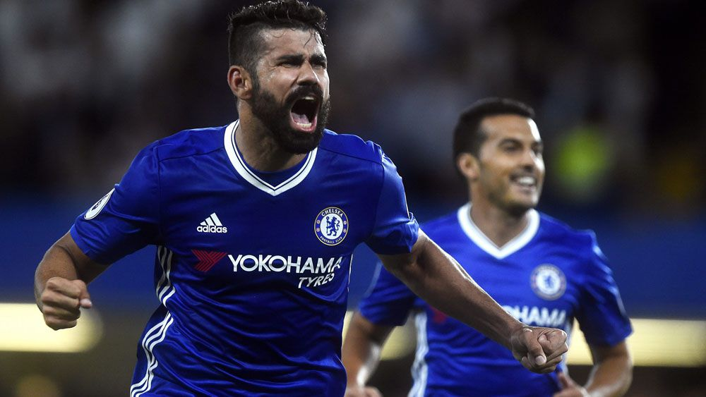 Diego Costa won the game for Chelsea. (AAP)