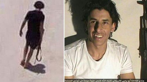 ISIL released the image on the right, claiming the man pictured was the gunman. (Supplied)