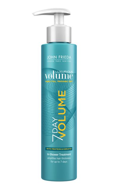 "<p><strong>To add volume to your locks:</strong></p><a href=""https://www.priceline.com.au/hair/hair-care/hair-treatments/luxurious-volume-7-day-volume-in-shower-treatment-118-ml"" target=""_blank"">Luxurious Volume 7 Day Volume, $16.99, John Frieda</a>"