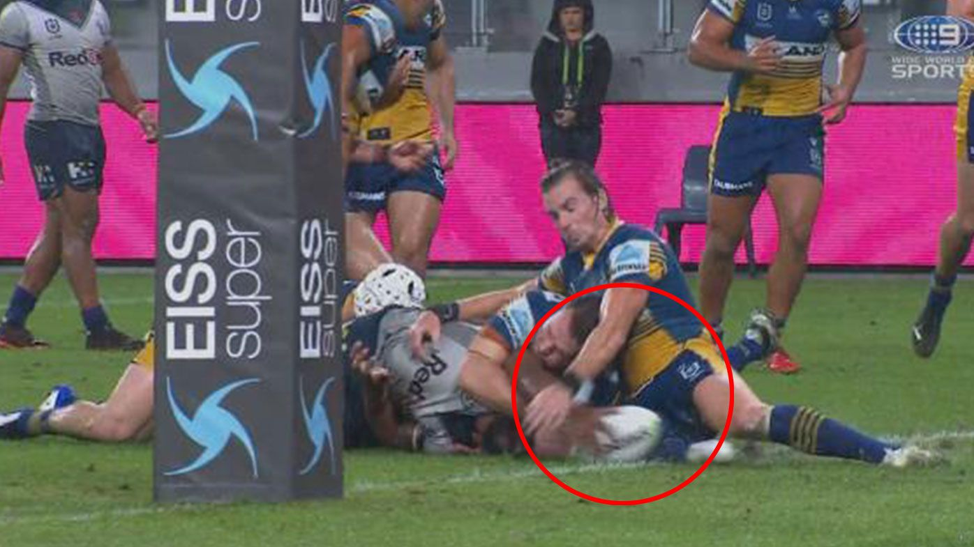 Phil Gould takes aim at suspect Clint Gutherson try-saver