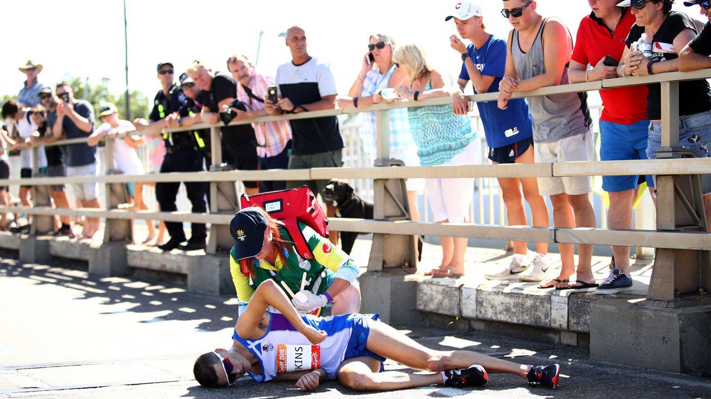 Commonwealth Games boss Mark Peters slams spectators over fallen marathon runner Callum Hawkins