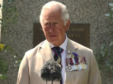 Prince Charles VJ ceremony on Sunday.