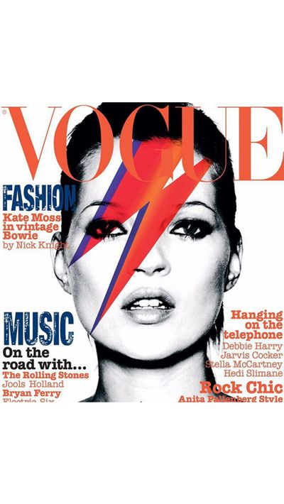 "British <em>Vogue </em>posted a tribute in the form of its May 2003 cover, saying Bowie's death was, ""the loss of a legend""."