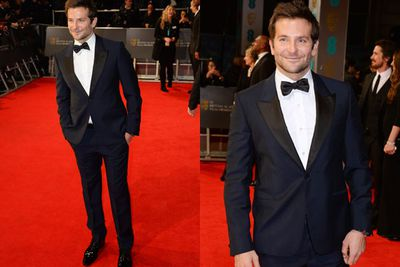 Bradley Cooper pulls out the bow tie for his crisp red carpet appearance.
