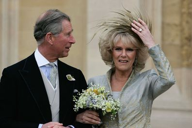 Camilla and Charles wedding day engagement ring