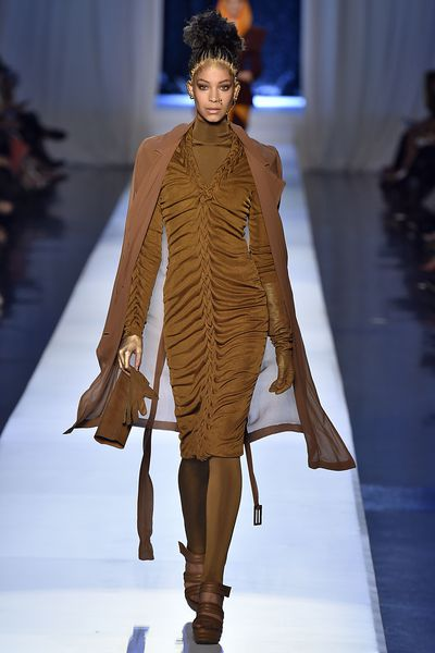 <p>Australian model Chantal Monaghan walks the runway for Jean Paul Gaultier haute couture autumn/winter '17/'18. </p> <p>Monaghan will walk for Myer tomorrow.&nbsp;</p>