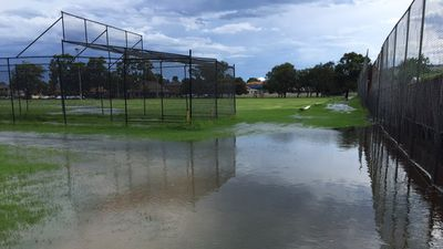 A flooded Phillips Park, Lidcombe, in Sydney's west. (Twitter/@Mo_Taha1)
