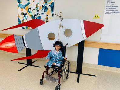 Kiveyn Nine Telethon posing at hospital