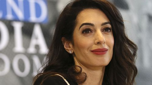 International human rights lawyer Amal Clooney smiles during a Foreign Ministers G7 meeting in Dinard, Brittany (Photo: April, 2019)