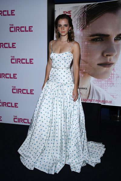 Emma Watson in Miu Miu at <em>The Circle</em>&nbsp;premiere in Paris, France, June, 2017&nbsp;