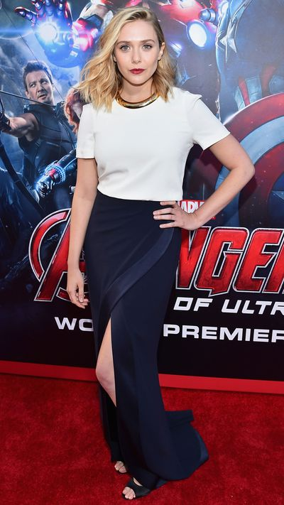 In Galvan at the world premiere of <i>The Avengers</i>.