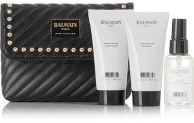 "<em><a href=""https://www.net-a-porter.com/au/en/product/1025572/balmain_paris_hair_couture/limited-edition-quilted-leather-cosmetics-case-gift-set"" target=""_blank"" draggable=""false"">Balmain Paris Hair Couture Limited Edition Quilted Leather Cosmetics Case Gift Set, $47.85</a></em>"