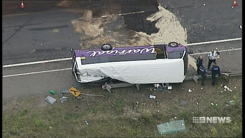 The impact was so severe the woman suffered severe head injuries and couldn't be revived. Picture: 9NEWS