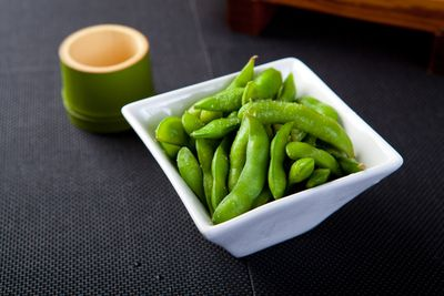 <strong>...for edamame beans (60 calories).</strong>