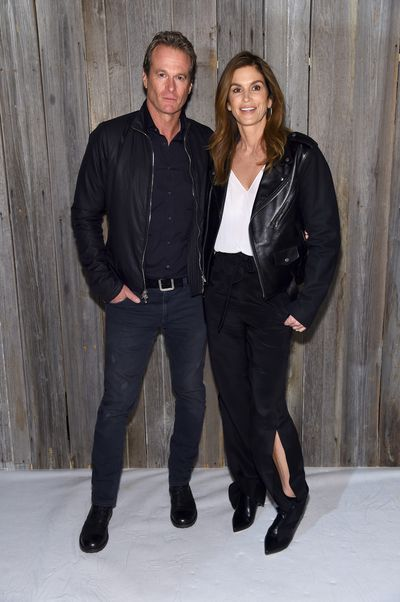 Rande Gerber and Cindy Crawford at Calvin Klein A/W '18 in New York City