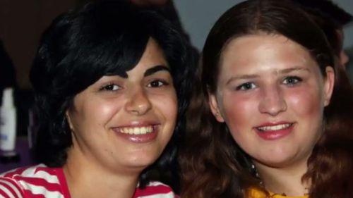 """Big sister"" Diala Barsoum and ""little sister"" Catherine Clarke. (9NEWS)"