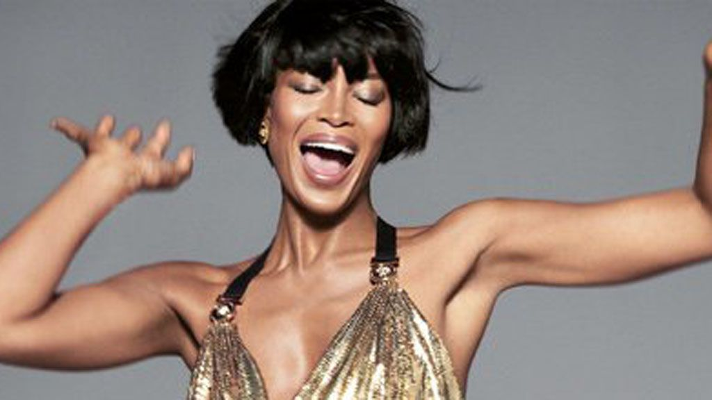 Naomi Campbell in the latest Versace campaign