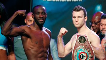 Horn puts his WBO Welterweight title on the line on Sunday afternoon Australian time against American Terence Crawford in Las Vegas. Picture: AP