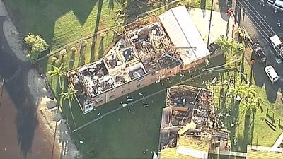 Aerial footage has revealed the extent of damage to Sunshine Coast homes, where some residents have been left homeless after winds tore the roofs from two unit blocks. (9NEWS)