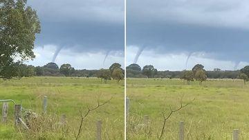 The phenomenon could be seen 20 kilometres inland from Taree.