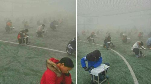 Chinese school principal suspended over outdoor exam in dangerous smog