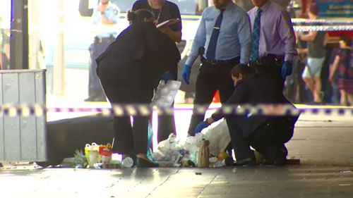 It is believed police are searching for a water bottle the killer may have thrown away. (9NEWS)