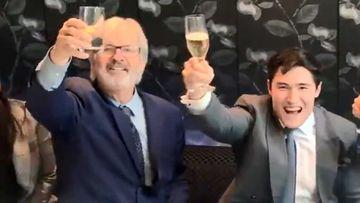 John Jarratt and his lawyer.