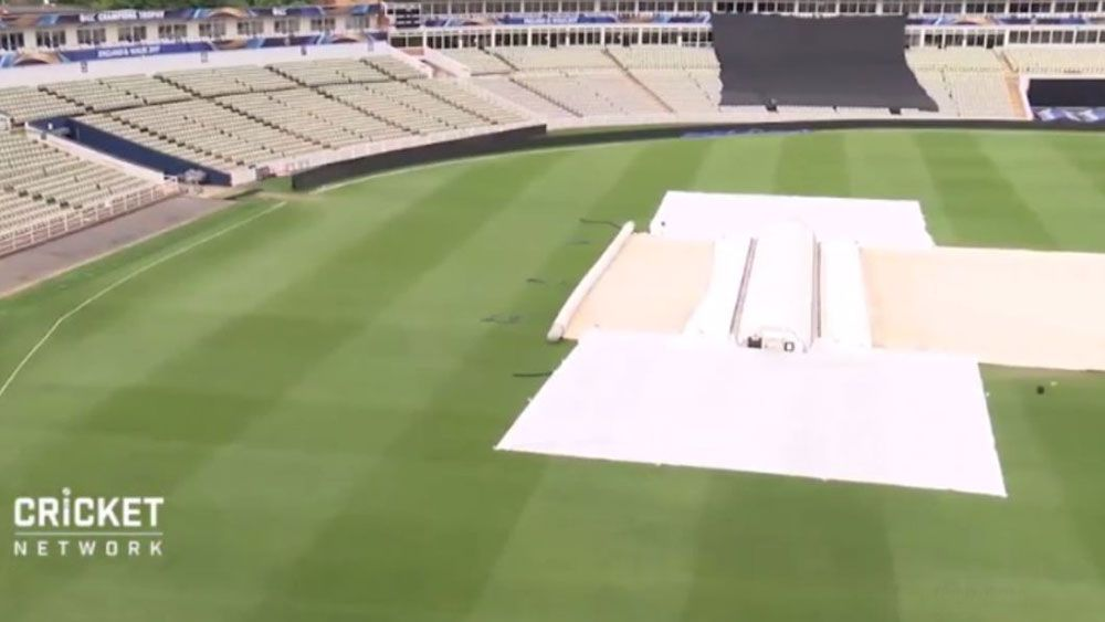 The Edgbaston ground prior to Australia's warm up match.
