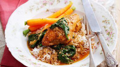 """Recipe:<a href=""""http://kitchen.nine.com.au/2016/05/13/13/08/spicy-yogurt-baked-chicken"""" target=""""_top"""">Spicy yogurt baked chicken<br /> </a>"""