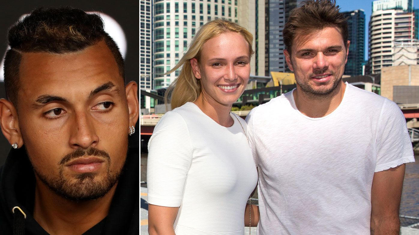 Nick Kyrgios' volatility rolls on, as do tennis couple Stan Wawrinka and Donna Vekic
