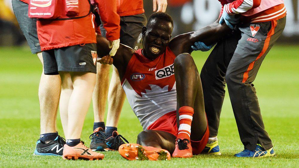 Aliir Aliir to miss AFL grand final