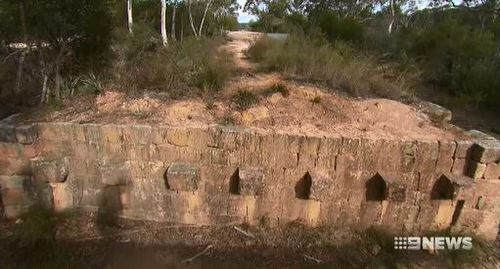 Construction of the sand stone originally started with early convicts. Image 9News