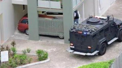 Residents of the apartment block have been told to stay in their homes. (Supplied)