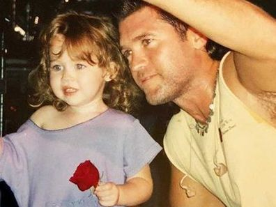 Billy Ray Cyrus, Miley Cyrus, throwback photo, Instagram