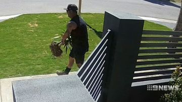 Thief filmed stealing plants from Perth home