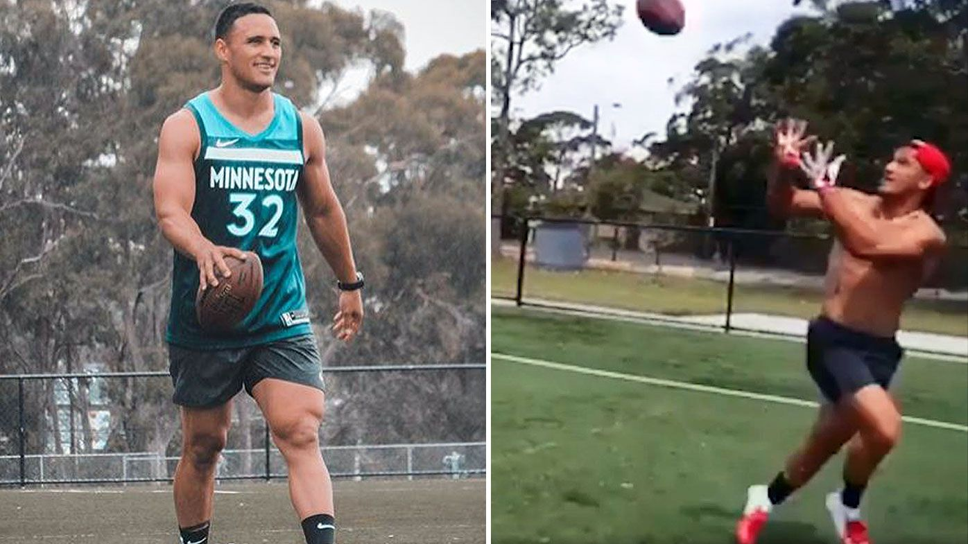Valentine Holmes teases NFL transformation ahead of move to US