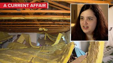 Family's lucky escape after entire ceiling collapses