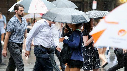 Wet weather in Brisbane this week. (AAP)