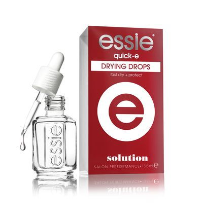 "<a href=""https://www.priceline.com.au/essie-quick-e-drying-drops-13-5-ml"" target=""_blank"">essie</a> quick-e drying drops, $19.95."