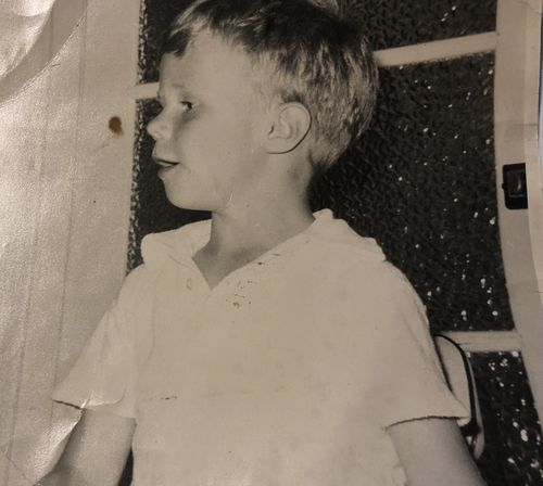 Brett pictured as a young boy.