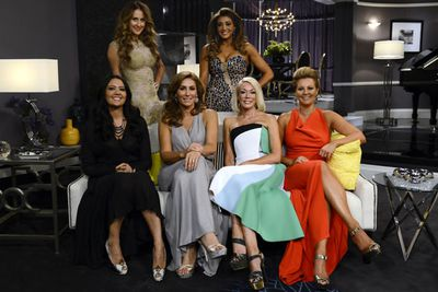 It's all smiles as the ladies pose together. But how long will the good mood last?!