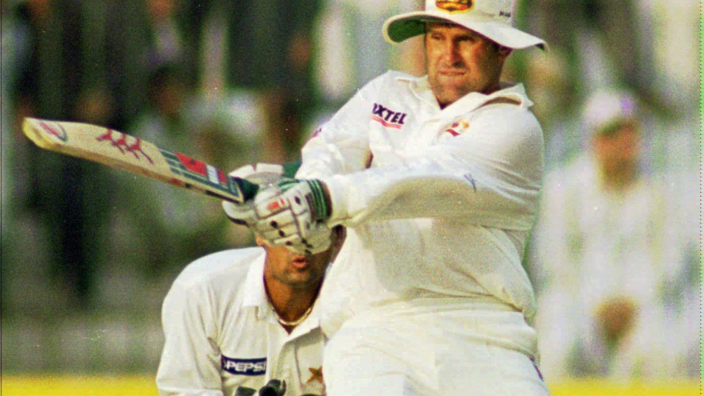 Mark Taylor plays a pull shot during his innings of 334 against Pakistan in 1998.